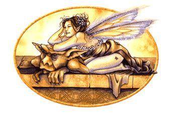 Fairy Tease Gargoyle Fairy Sticker