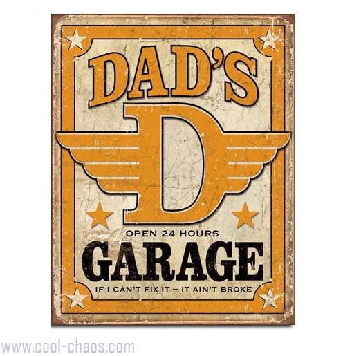 Retro Dad's Garage Sign