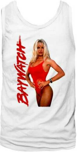 BAYWATCH TANK TOP / BABEWATCH SEXY CENTERFOLD PAM ANDERSON 90'S TV TANK TOP TEE