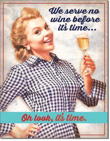 Time for Wine Wine Lovers Tin Sign
