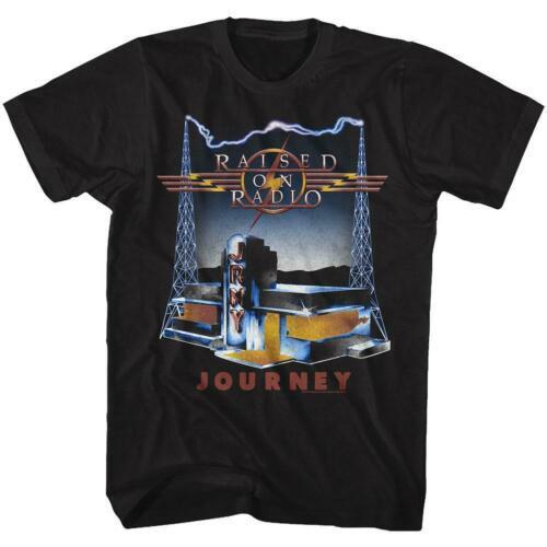 Journey T-Shirt / Journey Raised on Radio 80s Throwback Rock T-Shirt