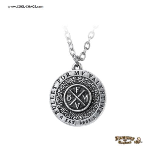 Bullet for my Valentine Necklace by Alchemy Gothic 1977,BFMV Pewter Logo Charm