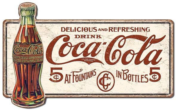 Delicious and Refreshing Drink COCA-COLA Tin Sign – 28 inch sign