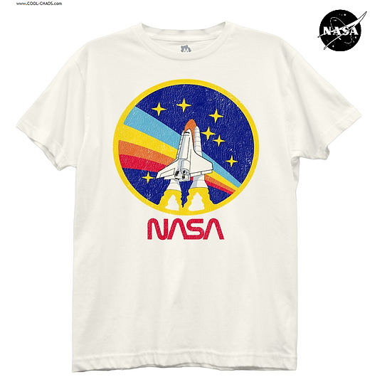 NASA T-Shirt / 80's Throwback Space Shuttle Tee,Boyfriend-Style Tee