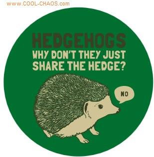 Cute Hedgehog Button