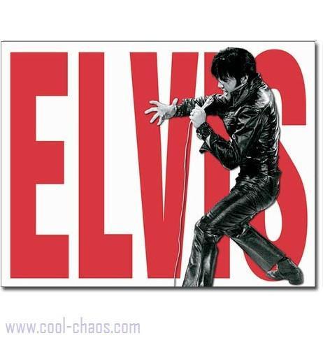 Black Leather Elvis Sign