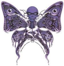 Art Deco Twin Butterfly Sticker