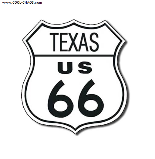 Texas Route 66 Street Sign