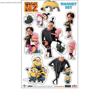 Despicable Me Magnets-Gru & Girls Despicable Me 2 Movie