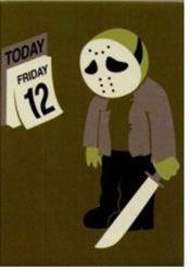 Spoof Collectible Friday the 13th Magnet