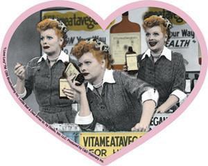 I love Lucy Heart Montage Sticker