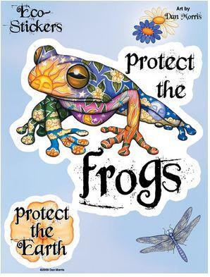 Protect the Frogs and Earth Stickers