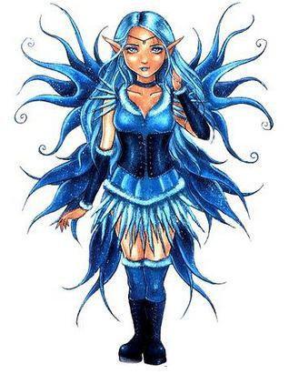 Blue Corset Fairy Sticker