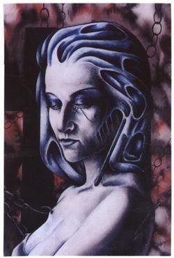 Armelina Horror Gothic Art Postcard Sticker