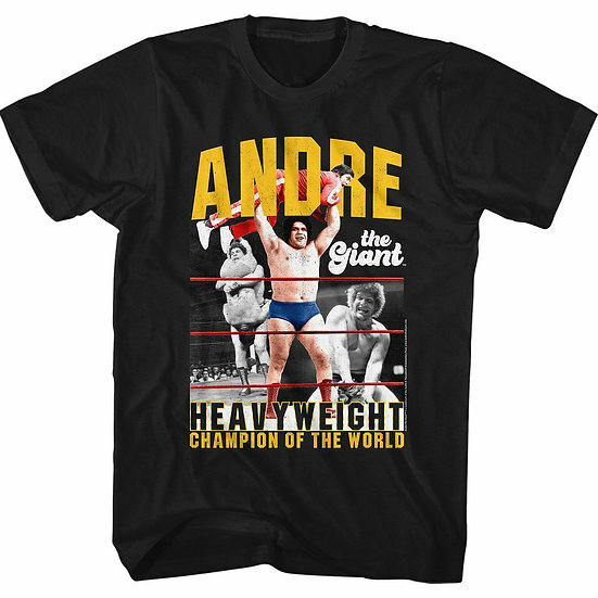 Andre the Giant T-Shirt / Andre the Giant HEAVYWEIGHT CHAMPION OF THE WORLD TEE