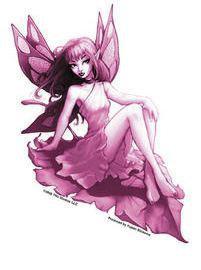 Pink Leaf Fairy Sticker