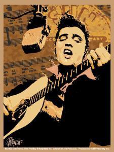 Sun Records Elvis Sticker with Joe Petruccio Art
