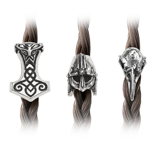 Pewter Viking Warrior Hair Beads by Alchemy Gothic 1977