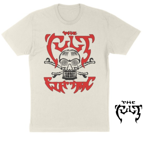 THE CULT T-SHIRT / THE CULT ELECTRIC ALBUM TATTOO SKULL 80'S THROWBACK ROCK TEE