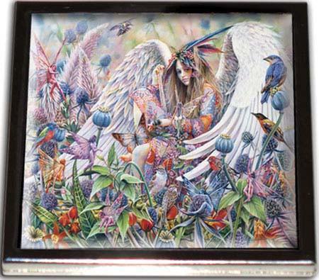 Wildflower Fields Angel Fairy Compact Mirror