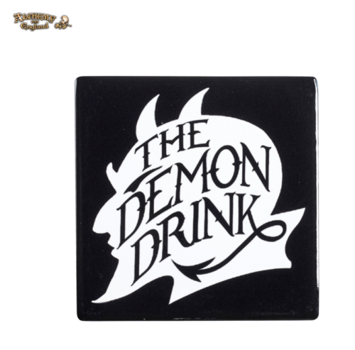 The Demon Drink Devil Coaster / Ceramic Gothic Coaster by Alchemy Gothic 1977