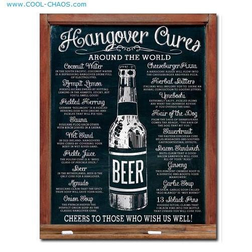 Hangover Cures Sign