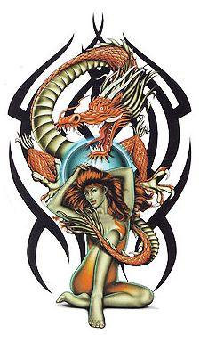 Tribal Chinese Dragon Sticker