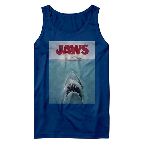 JAWS TANK TOP / JAWS MOVIE POSTER MEN'S TANK