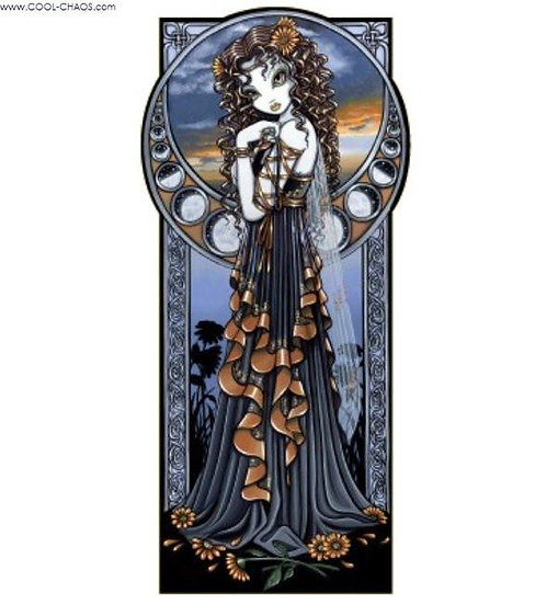 Lucia Goddess Sticker - Fantasy Art by Myka Jelina