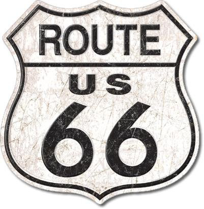 Route 66 Replica Tin Sign – Distressed