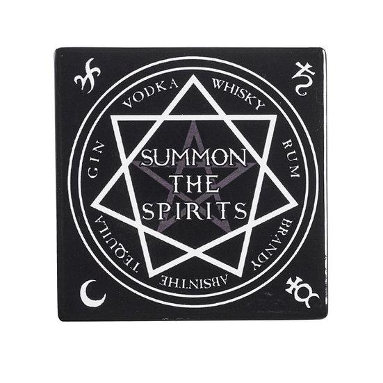 Summon the Alcohol Spirits Coaster / Gothic Ceramic Coaster Alchemy Gothic 1977