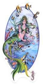 Fantasy Aquamarine Mermaid Dream Sticker