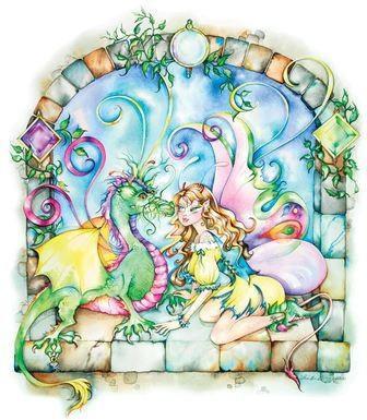 Moonstone Dragon Fairy Sticker
