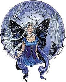 Blue Diadem Magical Fairy Sticker