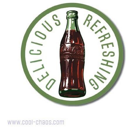 Delicious Refreshing. Round Coca-Cola Sign