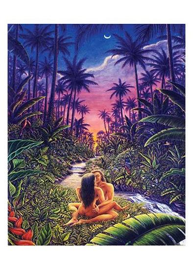 Garden of Eden Greeting Card art by Mark Henson Sacred Light