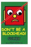Don't be a Blockhead Keychain