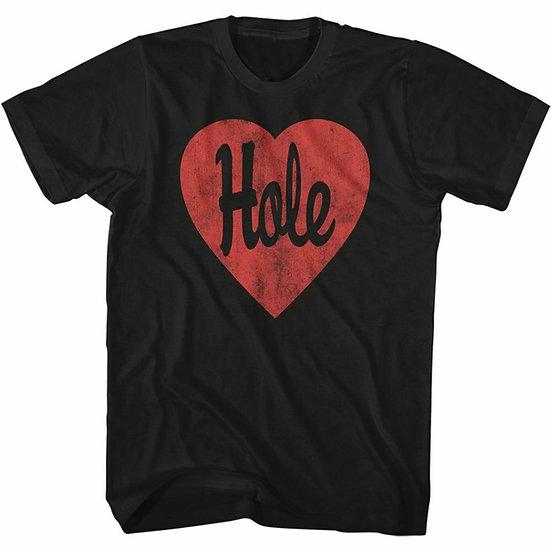 HOLE T-SHIRT / HOLE COURTNEY LOVE 'RED HEART' 90S ALTERNATIVE ROCK TEE