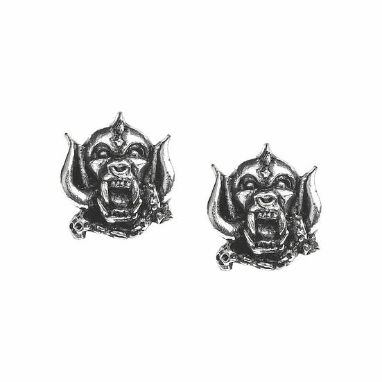 Motorhead Earrings / Pewter Stud Earrings Warpig