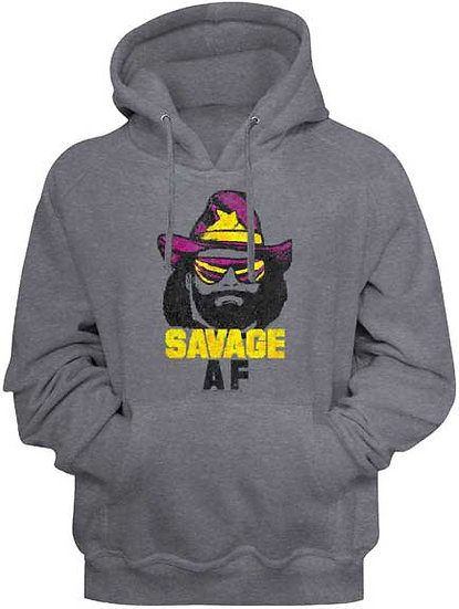 MACHO MAN Hoodie / SAVAGE AF Hooded Sweatshirt
