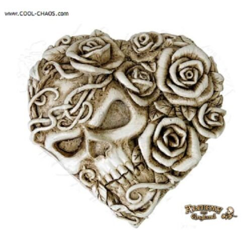 Skull & Rose Heart Compact Mirror by Alchemy Gothic 1977