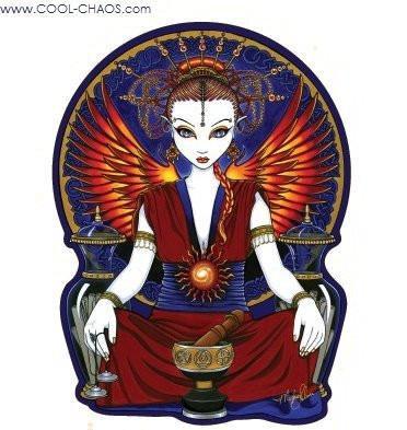 Solara Angel Sticker - Fantasy Art by Myka Jelina