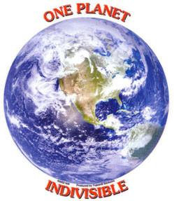 One Planet Indivisable Planet Earth Sticker