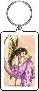 Mother Child Pink Fairy Keychain