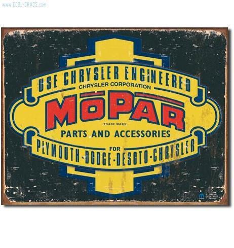 Distressed Mopar Parts Sign