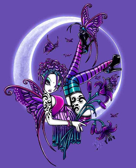 Paige Opal Butterfly Moon Fairy Greeting Card