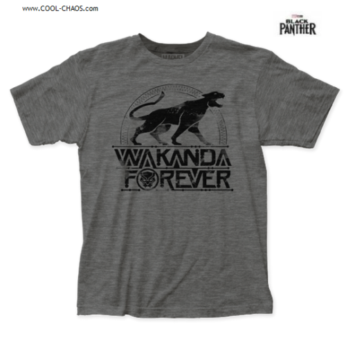 Black Panther T-Shirt / 'Wakanda Forever' Marvel Movie Tee