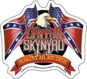 In Skynyrd We Trust Lynyrd Skynyrd Eagle Sticker
