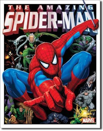 Villians Spider-Man Tin Sign