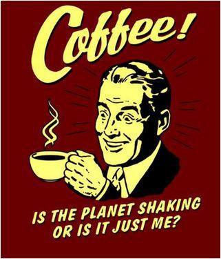Retro Spoofs Coffee Sticker